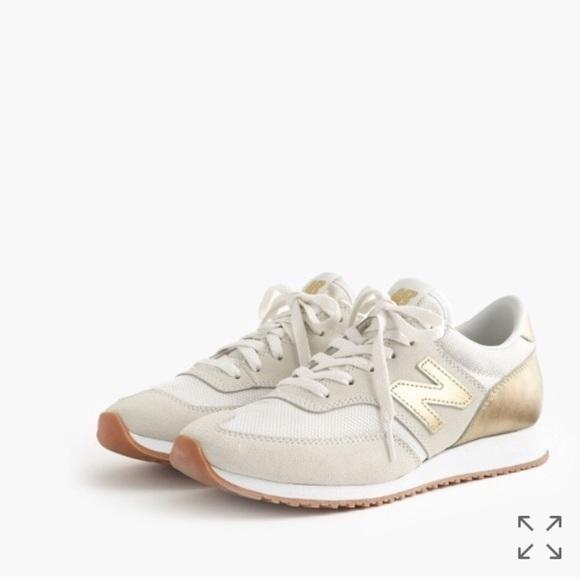 Jcrew New Balance Gold Salt Sneakers